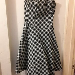 Ruby Rox checkerd black and white dress